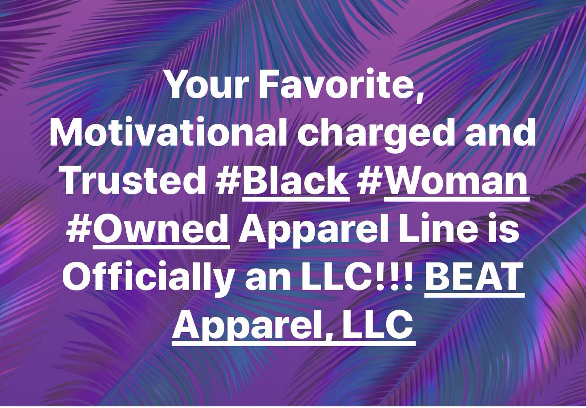 It's #official #beat #beatapparel is an #llc #Celebrate with your #favorite #motivational #apparel line w/ 10% off your order for the next 24hrs only!Code: Official #flashsale #celebration #blackwomanownedbusiness  #support #motivationalwear  #fitwear #urbanwear #linkinbio pic.twitter.com/IMC0lrYLcH