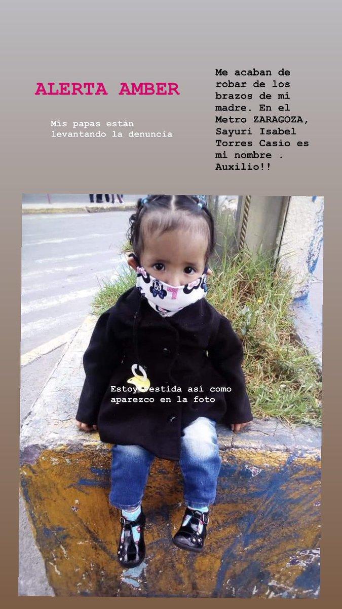 Alerta AMBER se la acaban de robar de los brazos de su mamá por favor ayúdenme a difundir estaba vestidura así como aparece en la foto, les pido ayuda si la reconocen. #ayuda 🙏🏼❤️ https://t.co/8h8Z6UiE6k