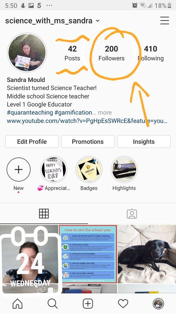 Eek! Just reached 200 followers on my teacher Instagram account!! #teacherlife #quaranteaching #iteachmiddles #42 #scienceteacher #edutwitter #edutech #educationpic.twitter.com/4NKmNlcpLI