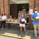 Image for the Tweet beginning: We distributed 2500lbs of chicken