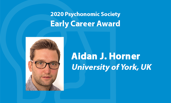 Congratulations to @aidanhorner, recipient of the @Psychonomic_Soc 2020 Early Career Award! https://t.co/fMxkaFkydS https://t.co/AJs9fpgzeZ