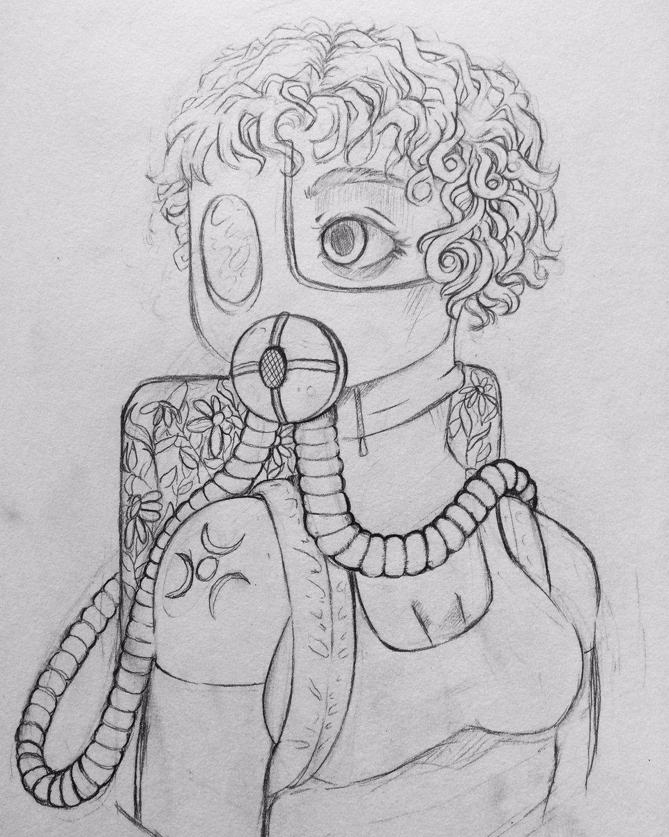 #myart #art #MyArtwork #drawing #sketch #wip #gasmask https://t.co/eVkA5ga5ZF