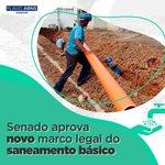 Image for the Tweet beginning: Investir em saneamento básico é