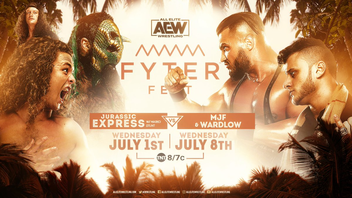 MJF And Wardlow Vs. Luchasaurus And Jungle Boy Announced For AEW Fyter Fest