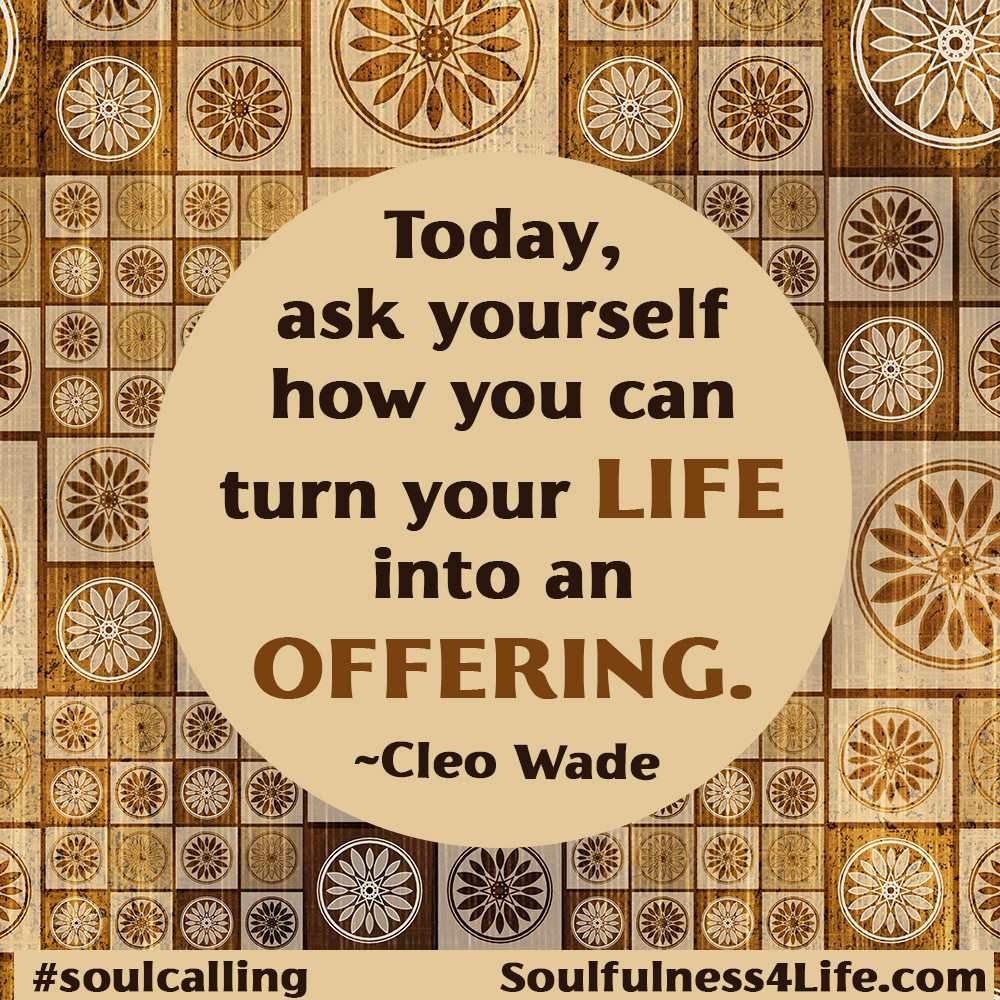 SoulQuestion: (For Contemplation and Conversation) How can you more strongly live your life as an offering to the world? to others? to yourself?  https://t.co/rxtnEqXsri   #WednesdayWisdom #quotes #inspiration #compassion #mindfulness #generosity #giving #healing #transformation https://t.co/DJVbvlh3L0
