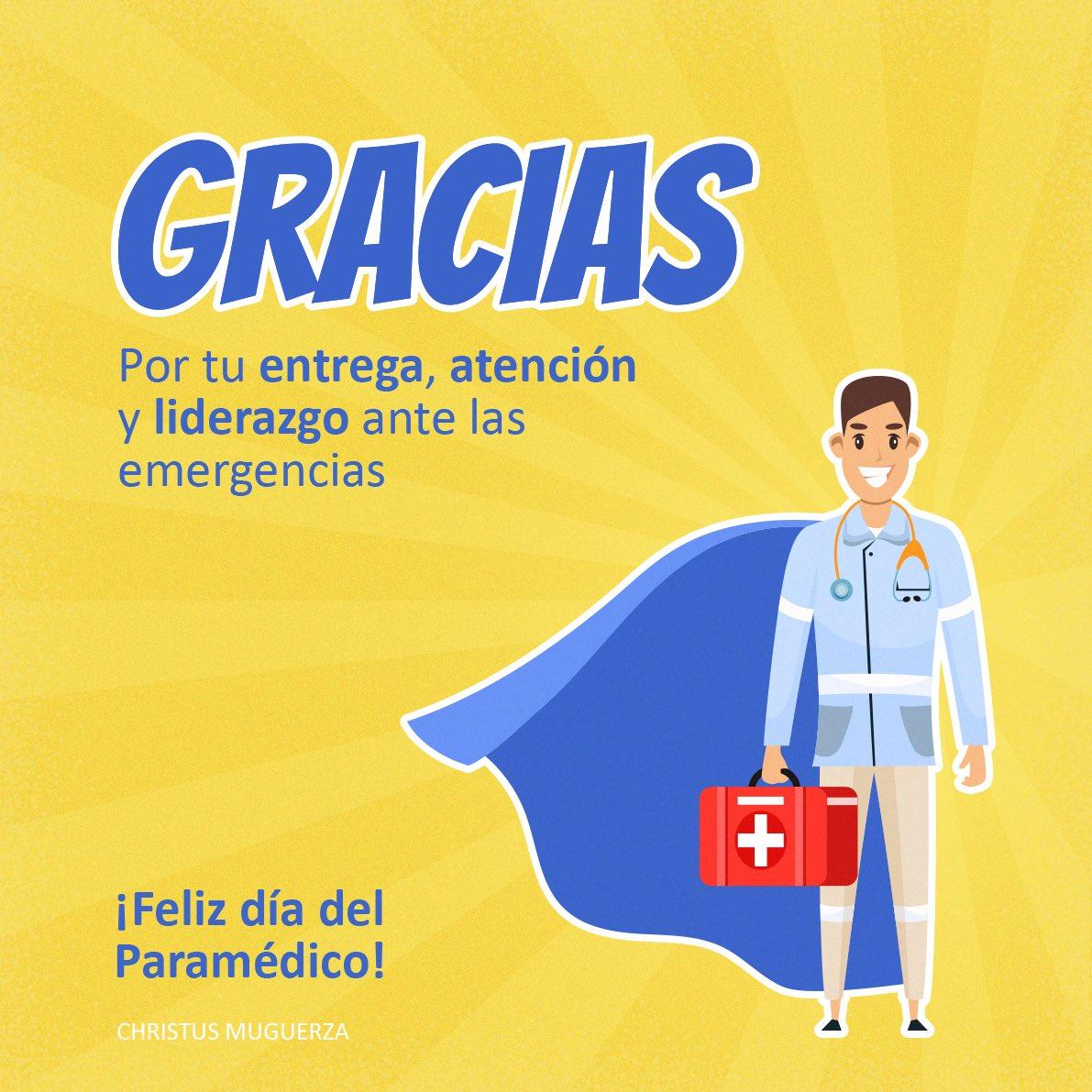 Reconocemos y admiramos el esfuerzo que depositas en tu trabajo a diario, agradecemos todo tu esfuerzo y capacidad ante las emergencias. ¡Feliz día del Paramédico! https://t.co/irbY6VVq9A