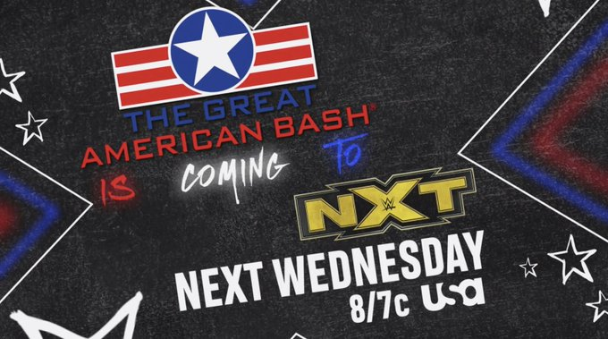 WWE Announces Great American Bash Edition of NXT for Next Week