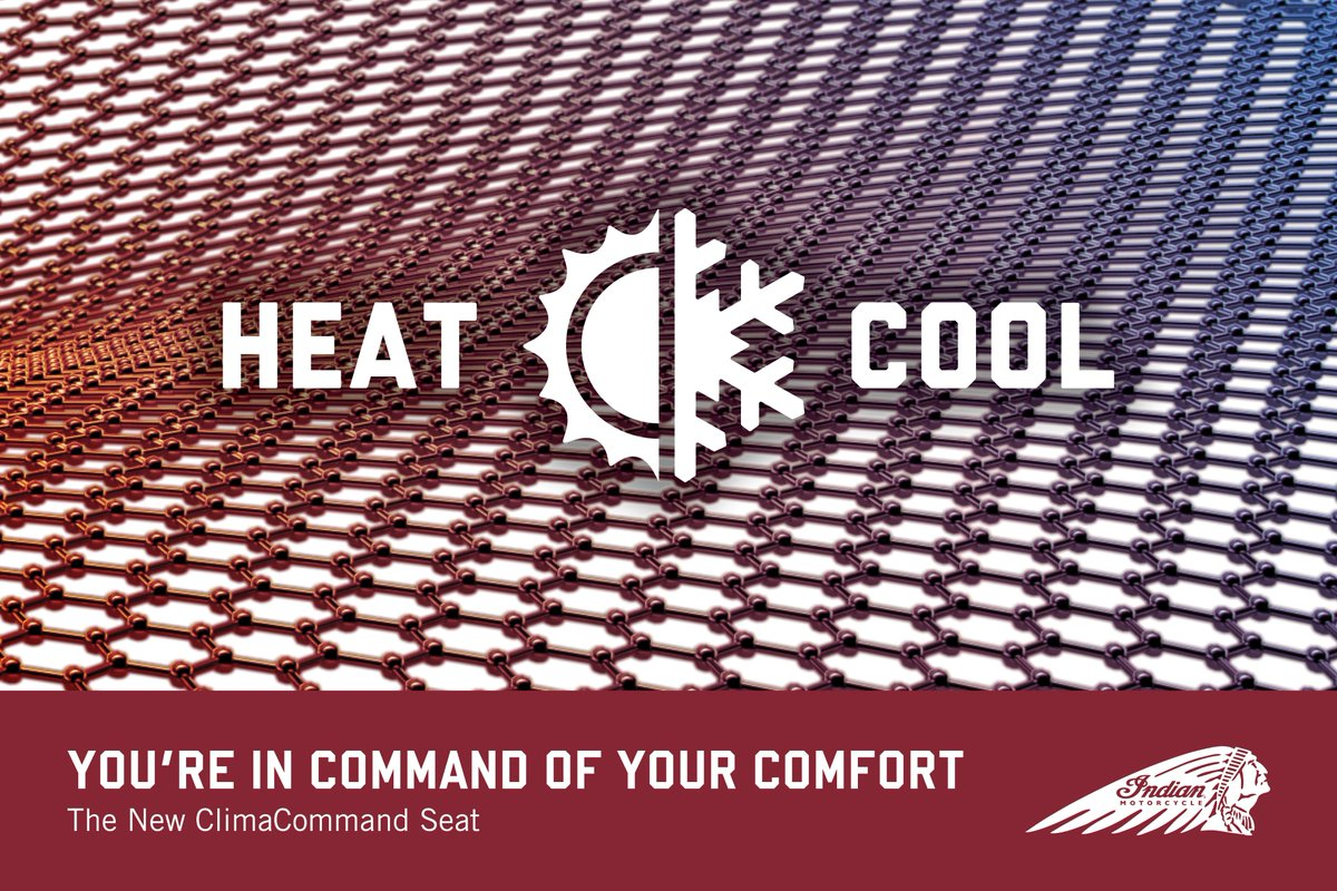Press Release: Indian Motorcycle Announce New Heated & Cooled Seat Features Industry-First Technology For Superior Cooling https://t.co/N0lICRyrGT https://t.co/ddbxTuvIRK