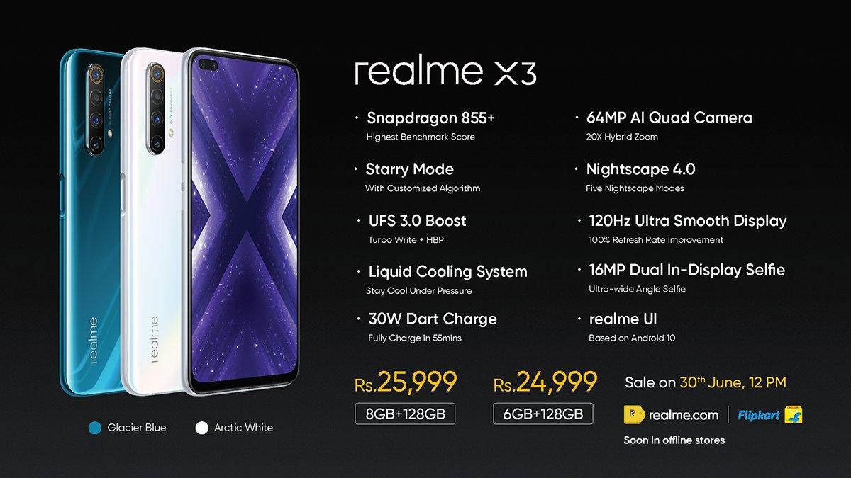 realme x3 caratteristiche