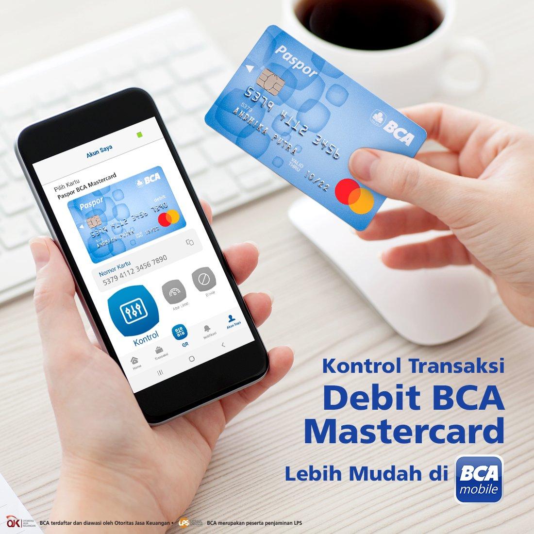 Bayar belanjaan di e-commerce dan berbagai transaksi online lainnya jadi lebih nyaman karena bisa kontrol transaksi Debit BCA Mastercard melalui BCA mobile. Anda bisa atur limit transaksi dan blokir kartu dengan cara mudah. Info detail: https://t.co/pXgnHePd4P https://t.co/imItBQqeNy