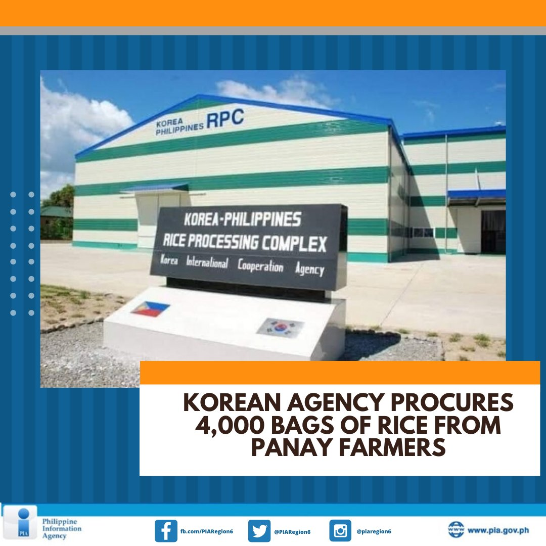 The Korea International Cooperation Agency (KOICA) purchased 4,000 bags of 50-kilogram well-milled rice from farmers in Panay Island, in support of the relief efforts of the national government against COVID-19.  Read full story: https://t.co/b06Ger5vY4 https://t.co/aAIl8JWCh9
