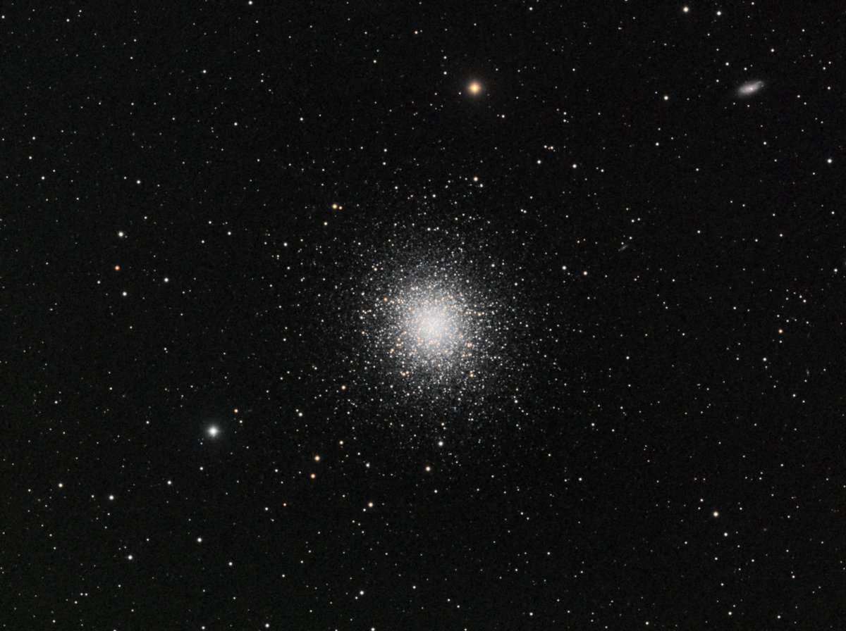 M13, 30 each R,G,B of 1 minute subs.  Processed in PixInsight. https://t.co/4oriJ3rC7Z