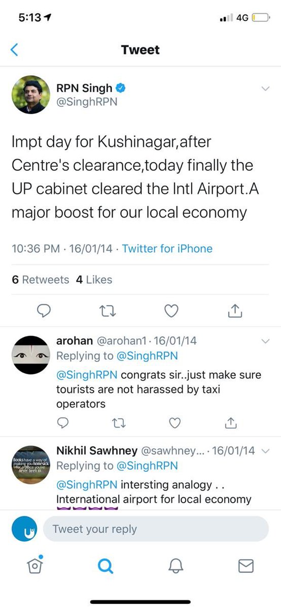 Glad this UPA decision has been cleared once again by the current cabinet, 6 years later. Let this government continue to claim credit for our schemes as long as Kushinagar & its people finally get this long overdue International Airport. #KushinagarAirport
