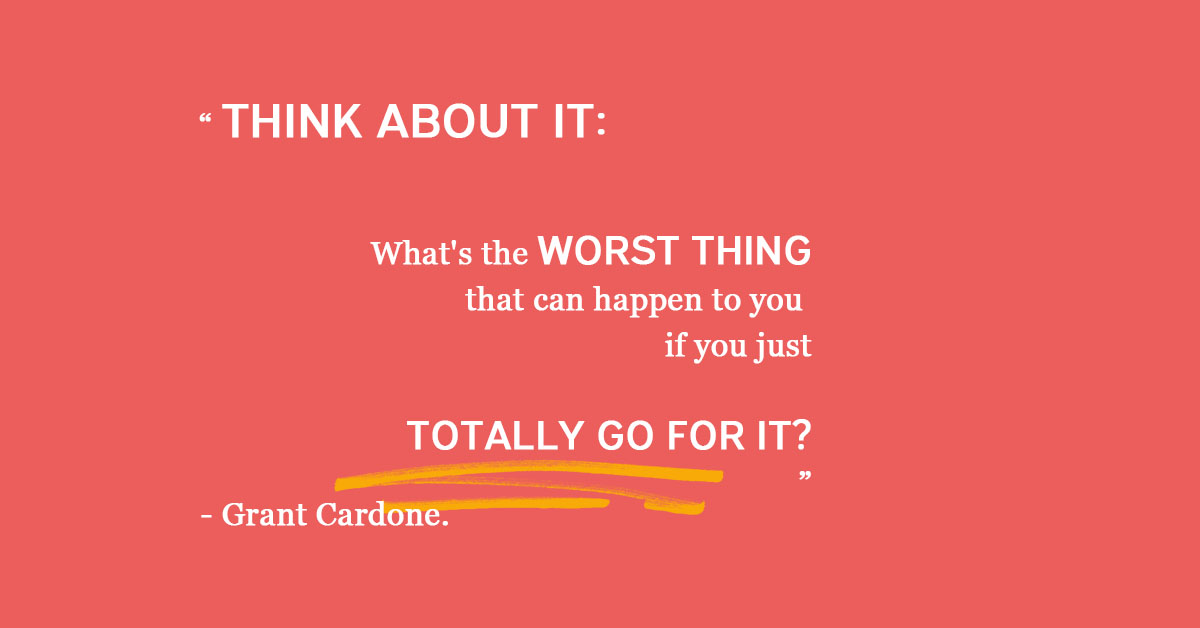 """""""Think about it: What's the worst thing that can happen to you if you just totally go for it?""""- Grant Cardone. These difficult times are the perfect chance to take risks you never would! Try something new @DigitalU_  #WorkingfromHome #Furlough  Learn more: https://t.co/3EZZrdSILs https://t.co/ZSdKeLNyI9"""