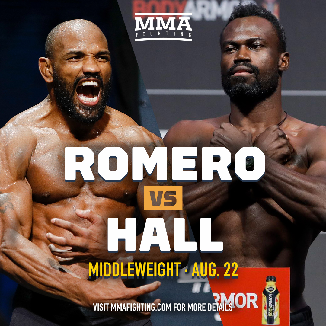 Yoel Romero vs. Uriah Hall in the works for UFC card on Aug. 22    READ MORE: https://t.co/rfQdlCRFNh https://t.co/1OnbBYYg9q