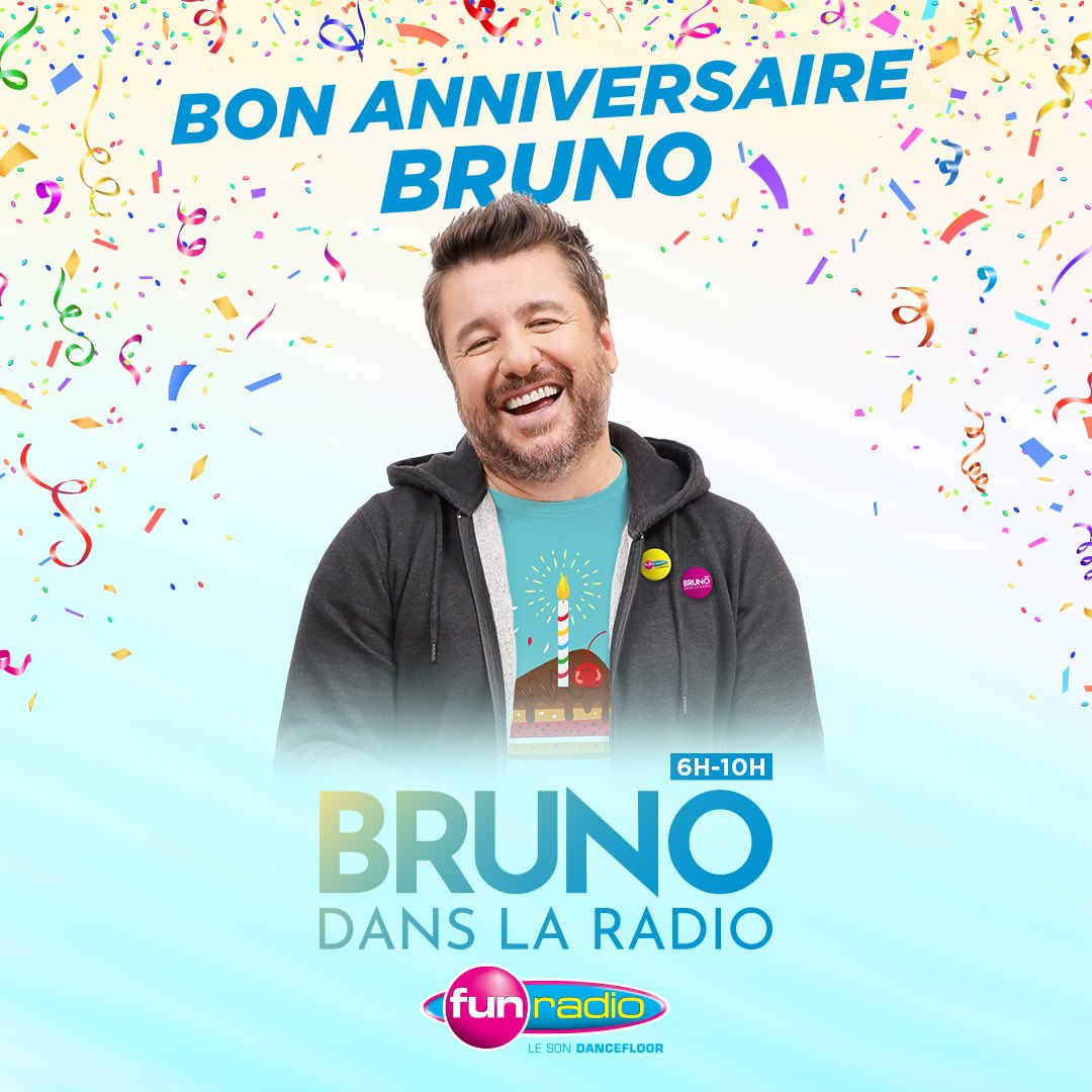 Happy Birthday @BrunoGUILLONOff  #BrunoFunRadio <br>http://pic.twitter.com/6mfHCPGIz0