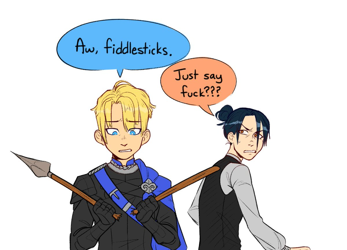 i had a convo with a friend about fe3h and cursing  #fe3h #fireemblem3houses #fireemblemthreehouses #DimitriAlexandreBlaiddyd #felixhugofraldarius<br>http://pic.twitter.com/UKzqzqvXSs