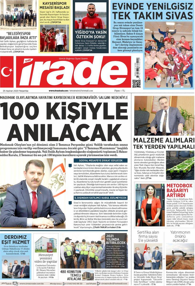 """""""Yapay zeka ve dijitalleşme, Bahçeşehir Kolejine LGS'de rekor başarı getirdi."""" (Sivas Hakikat Gazetesi - Sivas İrade Gazetesi ) 25.06.2020 https://t.co/mO8hEBa3z6"""