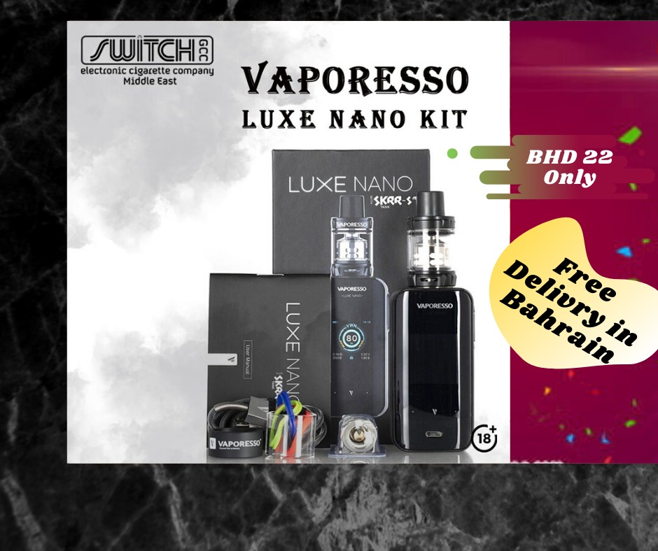 🔞🔞🔞 Vaporesso Luxe Nano Kit 🚘🚘🚘 Free Delivery All Bahrain🚘🚘🚘 Smoking is injurious to health. Stop smoking and start vaping. Dial 📞36090836 for further information. #Vape #eciggrate #bahrain #smoke #switch #vaping #Bahrainstore #Bahrainmarket #Bahrani #bahrainvape https://t.co/Xa7dox0xG7