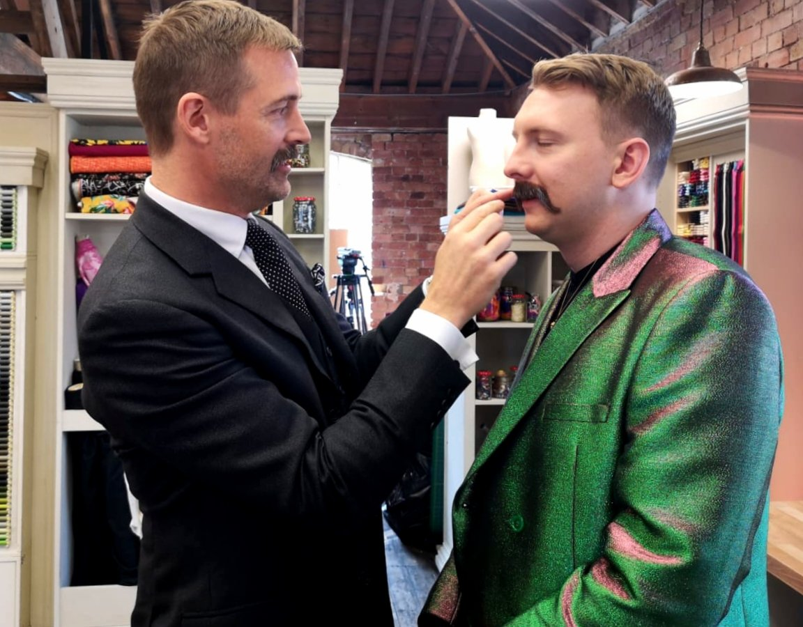 I have inspected @joelycetts moustache and can confirm that it is 100% real. @sewingbee #SewingBee