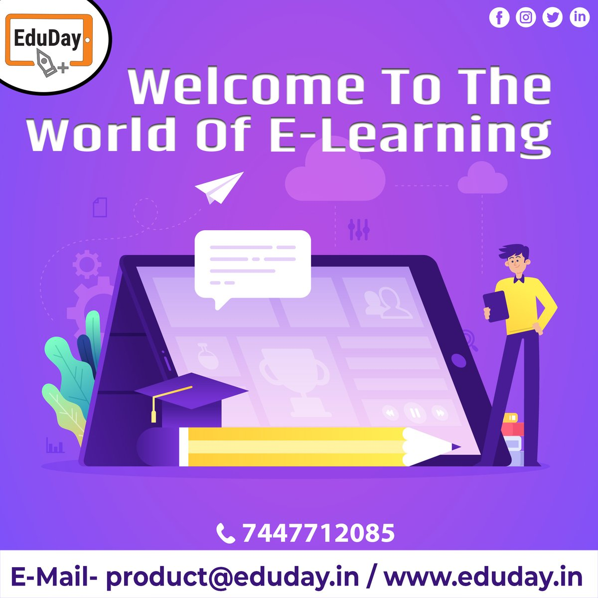 Transform Teaching, Inspire Learning and Deliver a world-class Student Experience.  Get in touch to know more:- Phone : +91 7447712085 E-Mail: product@eduday.in visit:- http://www.eduday.in   #eduday #edudayindia #pune #india #tab #tablets #CoachingInstitute #Coachingclassesspic.twitter.com/eUsogJD7zP