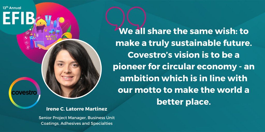 test Twitter Media - Alternative raw materials, #innovative #recycling, joint solutions and #partnerships and #renewable energy are the 4 main areas to help realize a #circular #bioeconomy according to Irene C. Latorre Martinez from @covestro   #EFIB2020 #SustainabilityDialogues https://t.co/UOva79ltQ6