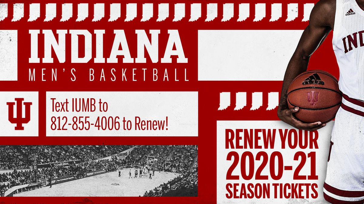 🚨@IndianaMBB season tickets reminder🚨  🗓️ Priority Renewal Deadline: 5 days away‼️  📱  Text IUMB to 812-855-4006 to get started https://t.co/EmIDvmKgUL