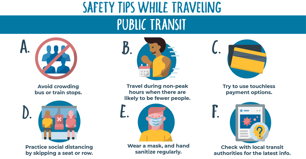 Using public transit can pose a risk to those traveling if you don't take certain precautions.   Here are some tips to keep you safe ⬇️ https://t.co/dlYc7mf3Av