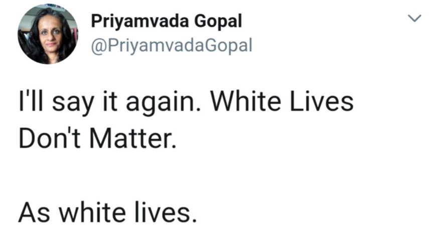A thread on the outrage (and worse) directed against my colleague Priya Gopal yesterday.