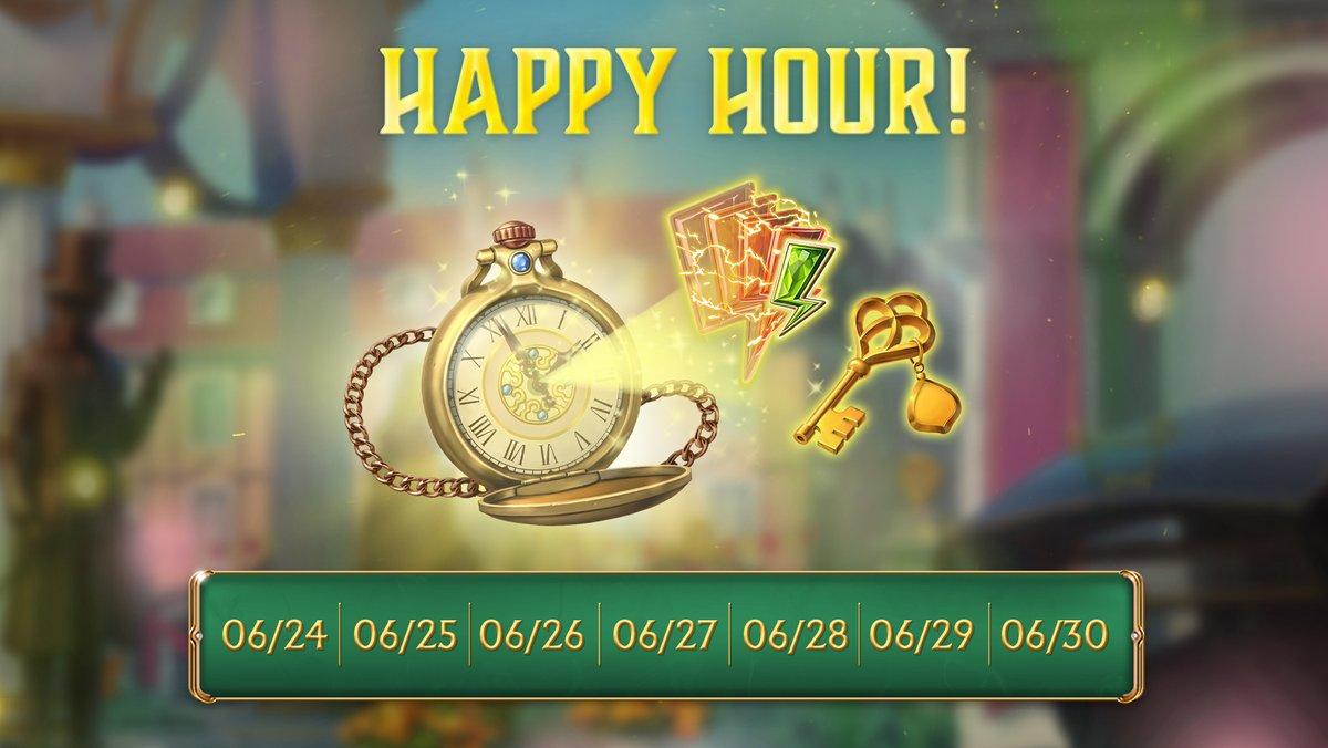 ⏰Happy hour every day! Play Seekers Notes during Happy Hour to get awesome bonuses!😄  🎩Please, read the following replies to this thread. https://t.co/aim1qQSHeZ
