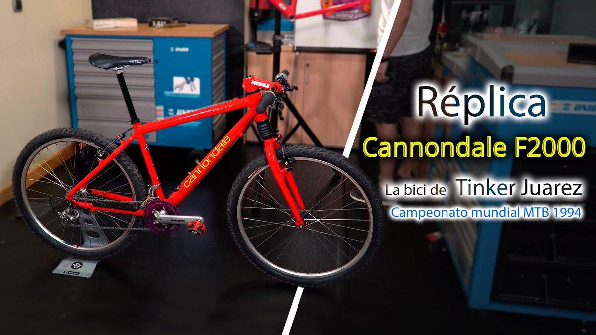 """También en  Youtube el 1º programa de """"Bikezona Classic"""" José Crespillo nos hace revivir el más puro #MTB de los 90 con una restauración impecable de la #cannondale F 2000. convertida en la misma bici de Tinker Juarez en los campeonatos mundiales de 1994. https://t.co/GKfLd6cKxy https://t.co/vvtRcGDzGa"""