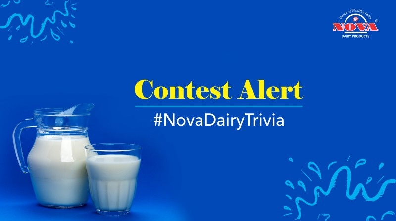 It is time to put your dairy knowledge to a test.Participate in #NovaDairyTrivia – A fun quiz contest and test your dairy knowledge, learn more about the dairy facts and get a chance to win an exciting gift hamper from #NovaDairy.   #ContestAlert #Contest https://t.co/kegIuIO0rM