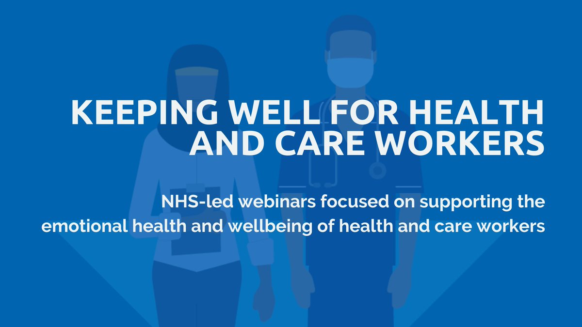 Do you work in health and care? Join an NHS-led #KeepingWell webinar series for health and care workers, whether at the front line or in supporting services. Sessions are Thursdays at 4pm, each with a focus on sustaining staff wellbeing. Full details: thriveldn.co.uk/resources/keep…