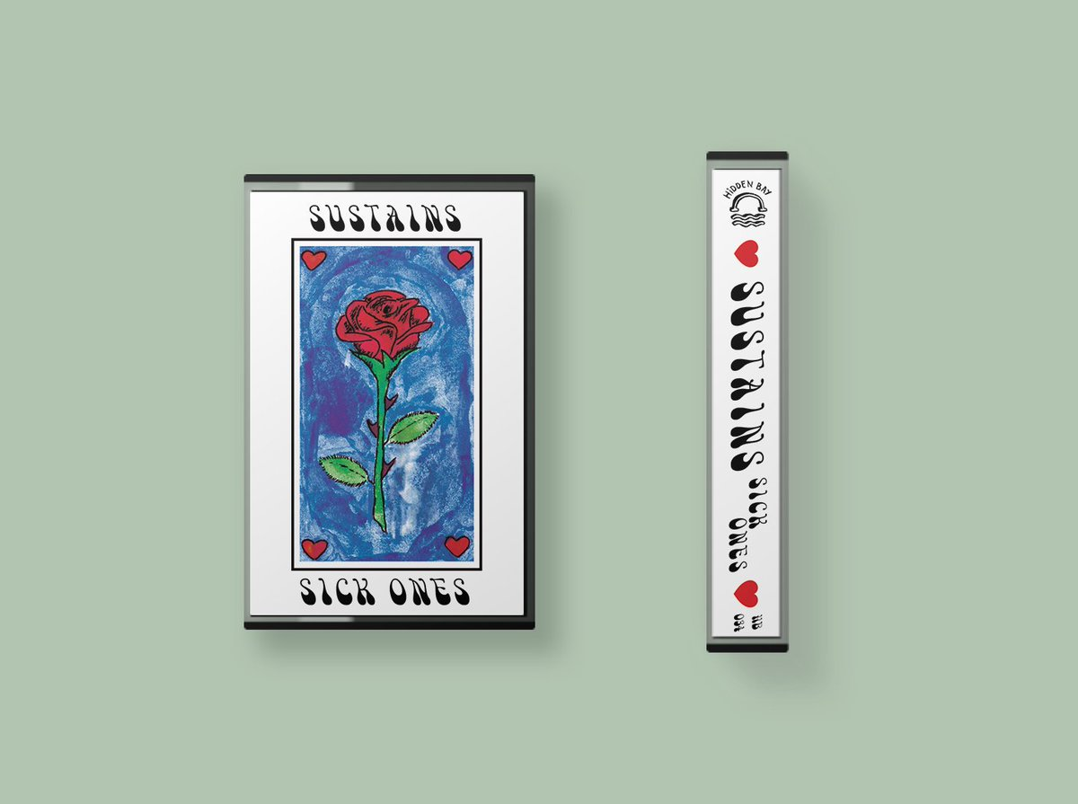 Hidden Bay Records On Twitter In Case You Missed One Of Them Here Are Our Three Latest Releases Sick Ones By Sustains Four Perfect And Shiny Lo Fi Pop Songs Cassette Tape