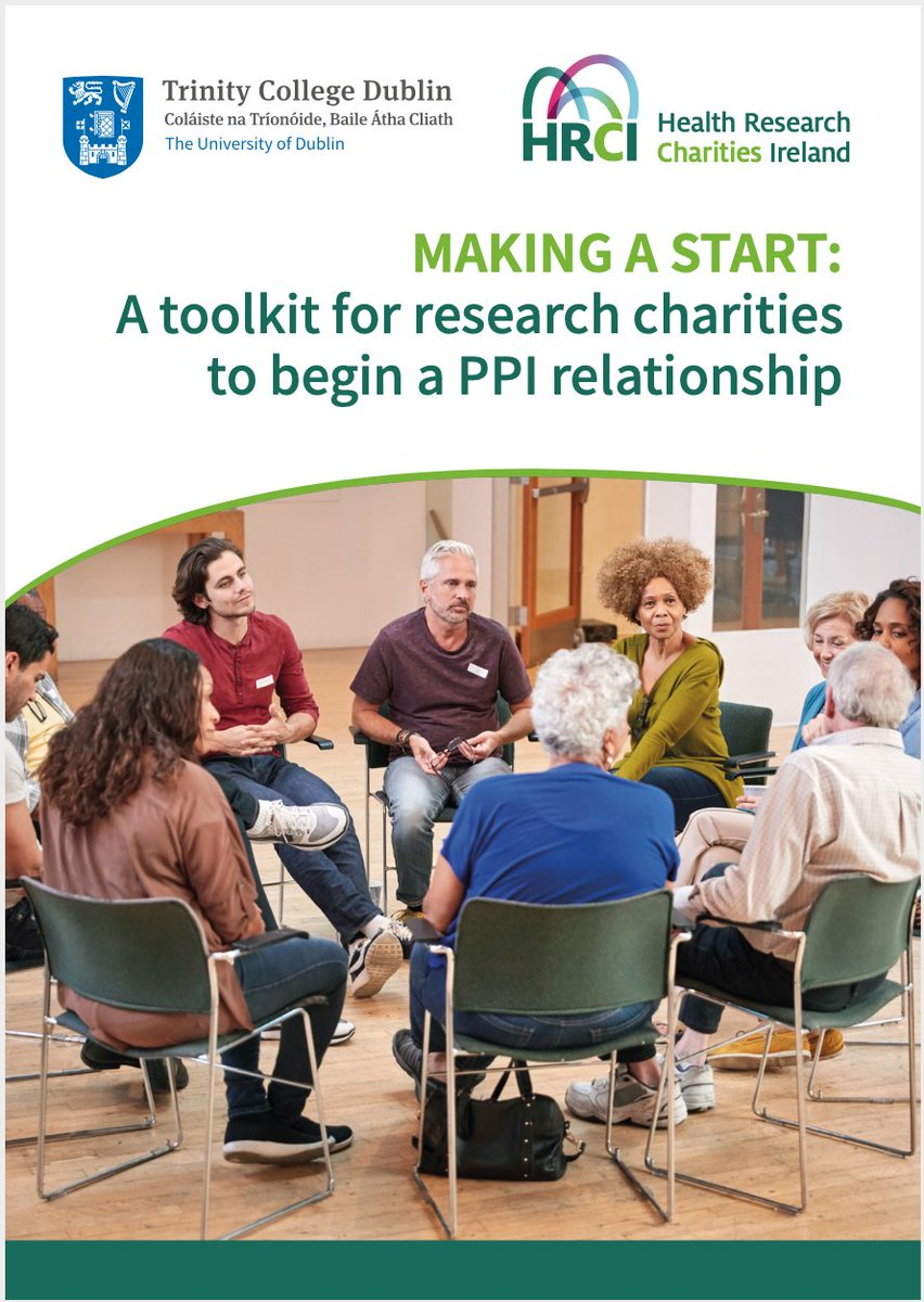 We are delighted to launch:  A TOOLKIT for beginning a #PPI relationship with patients & members of the public.   It was developed in partnership with @PPI_Ignite_TCD (who led), @BecHanley1 & our member charities. Funded by @hrbireland.  View it here: https://t.co/CDsFtAjZtx https://t.co/SYIwIh0orl