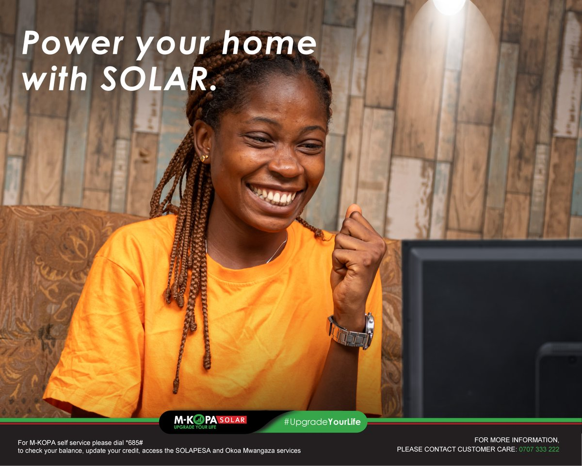 Let the sunshine into your home, power your house with the M-KOPA Solar Home System, see it here: https://t.co/Wrkp5ZOSJZ #UpgradeYourLife https://t.co/auWMhgkKIp