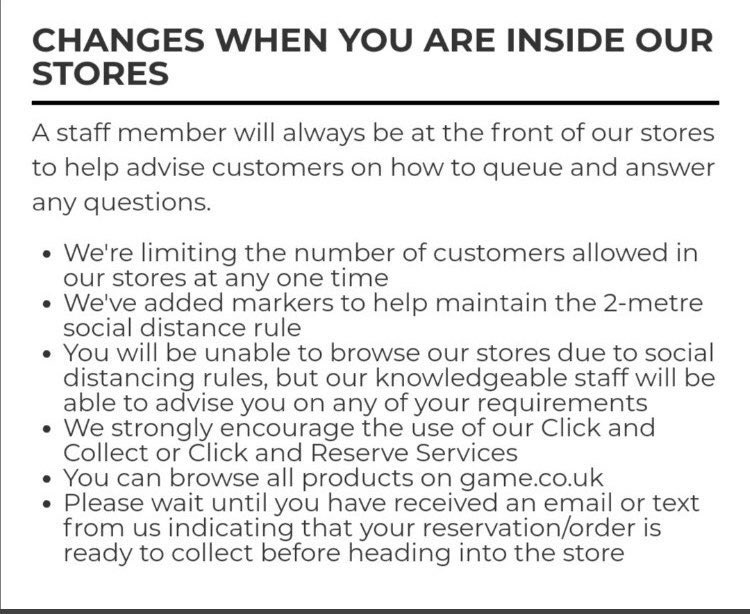 To anyone who hasn't visited us yet, these are the precautions we are taking in all of our stores to ensure yours and our staff's safety!  Take a look, pop in and see us!  Reserve what you want to buy online, if we have it, it will be ready for you when you get to the store! https://t.co/X3DXZdwOBT