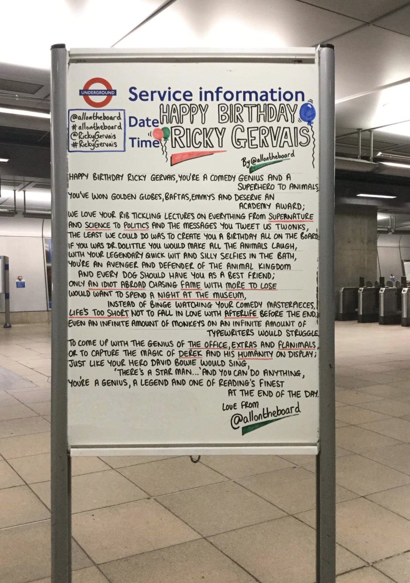 Happy Birthday Ricky Gervais. Hope you have a marvellous day. @allontheboard #RickyGervais #HappyBirthdayRickyGervais @rickygervais