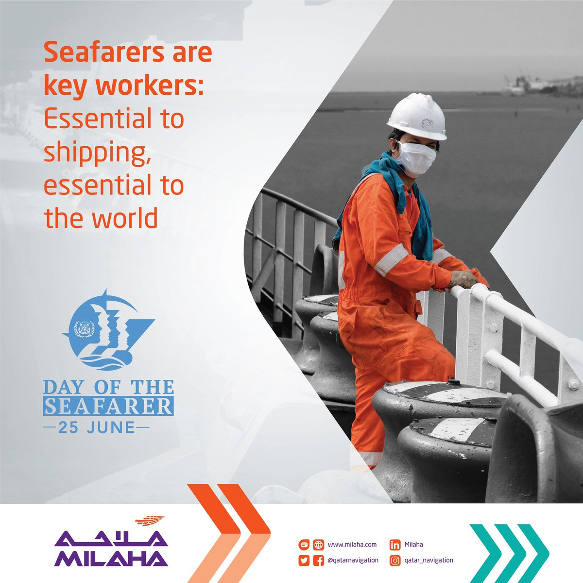 We say a big thank you to all our seafarers who are working hard to support our economy and to bring vital supplies. #milahatogether #dayoftheseafarer20 #SeafarersAreKeyWorkers #maritime #ship #shipping #sea #lifeatsea #seaman #sailor #seafarer #instashipping #instaship