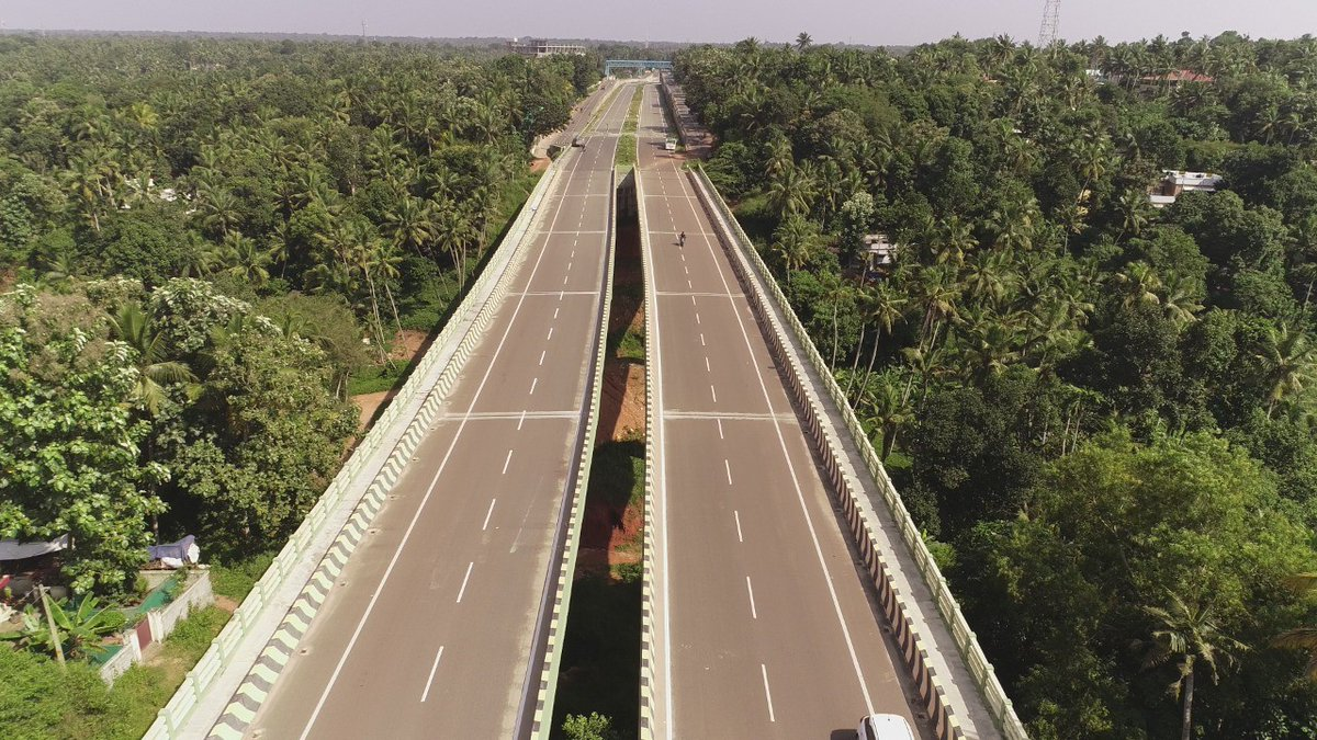 Beautiful places and relaxing spaces! Thiruvananthapuram Bypass leading to the famous tourist place, Kanyakumari, from Techno Park to world-famous Kovalam Beach—the bypass on NH-66 gives a beautiful treat to the commuters! #NHAI https://t.co/ueIRaRwDmX