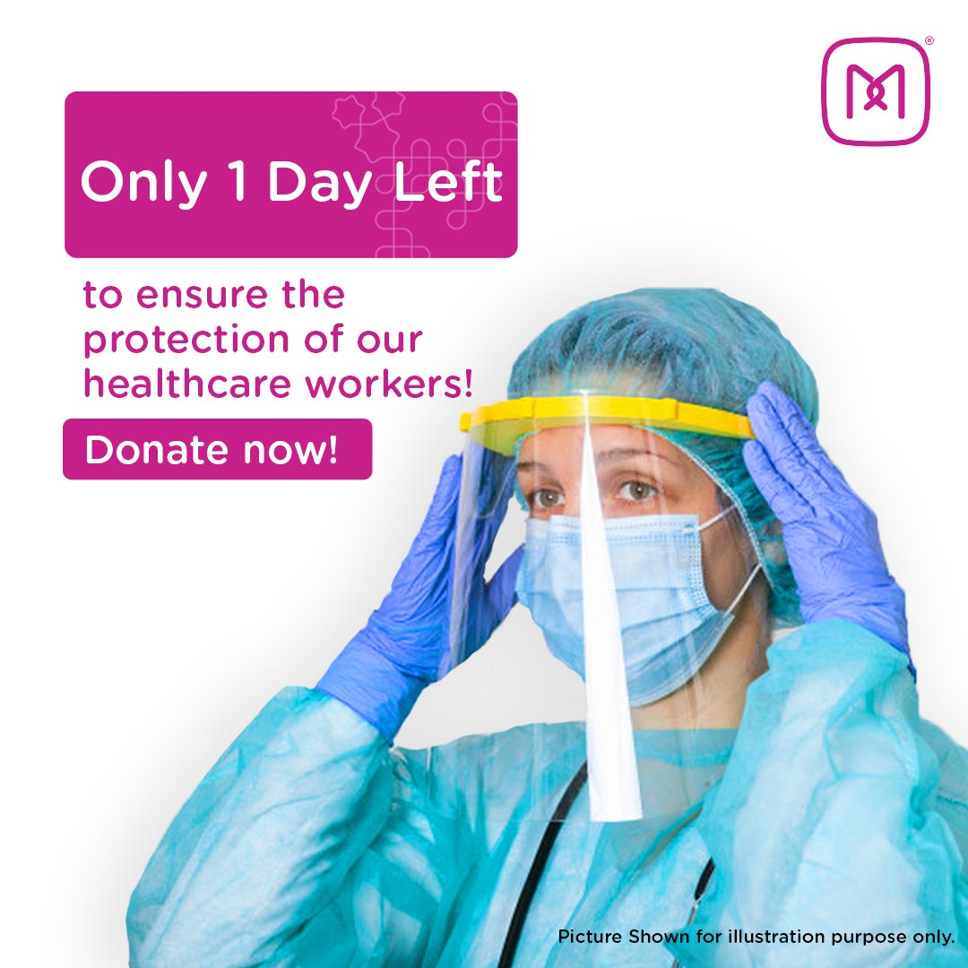 Its your last chance to donate to #MeerFoundations crowdfunding link! Help us reach our target today. Consider making a donation to take PPE kits to our healthcare workers in need of protection. #ToGETherStronger. Donate now: bit.ly/DonateToMeer #Donate #Help #Covid19