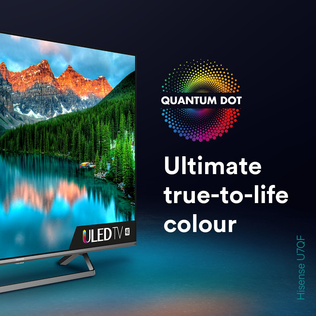 Say Hi to Quantum Dot Technology 👋   Get closer to reality with 1 billion true-to-life colours.  Discover the Hisense U7QF 👉 https://t.co/kJsDVjPBGd Find out more about Quantum Dot technology 👉 https://t.co/voogJXdWSu https://t.co/kOb9EMPBlg