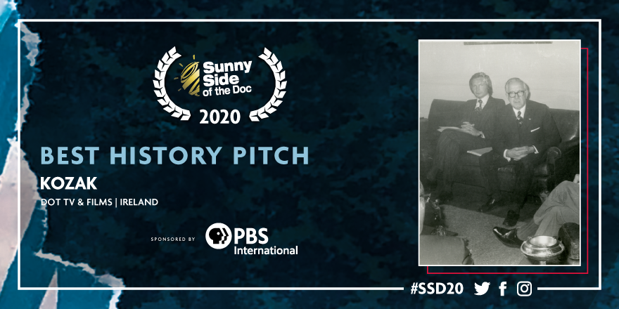 ◣ BEST HISTORY PITCH ◥  #SSD20 The award for the Best History Pitch sponsored by @PBS International goes to Kozak by DOT TV & FILMS.  Congratulations! #HistoryInsideOut   Watch the live now: https://connected.sunnysideofthedoc.com  #AwardsCeremony pic.twitter.com/Xg7VFwmuRh