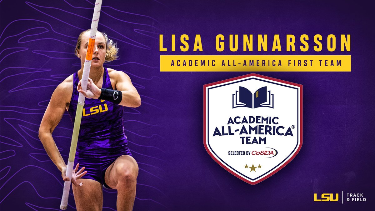 Congratulations to Lisa Gunnarsson on becoming the second woman in program history to earn Academic All-America First Team honors!  📰 https://t.co/xqptGgtVFK  #GeauxTigers https://t.co/zKOvtttwri