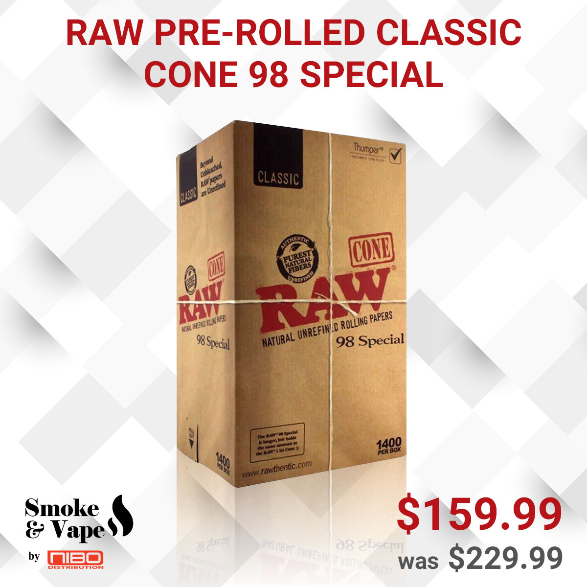RAW PRE-ROLLED CLASSIC CONE 98 SPECIAL 1400/BOX  https://t.co/JftonyI2tJ  #RAWPREROLLED #CLASSIC_CONE #RawTubes #raw_rolling #tray #rawtray #smokeVape #smoking_accessory #rawtraymini #mini #mini_tray #canada #smoking #vaping #smokefans #vape #toronto_smoke_accessory https://t.co/KIGCQ2F202