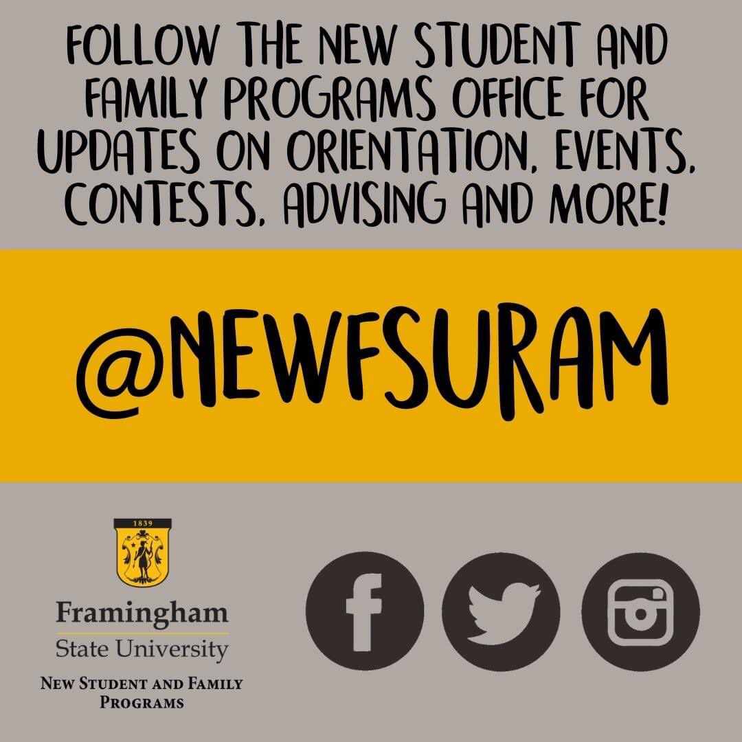 Stay up to date on all of the virtual advising and registration days, fall announcements, and fun social opportunities! Follow New Student and Family Programs on all platforms @newFSUram https://t.co/qMb4L85my1