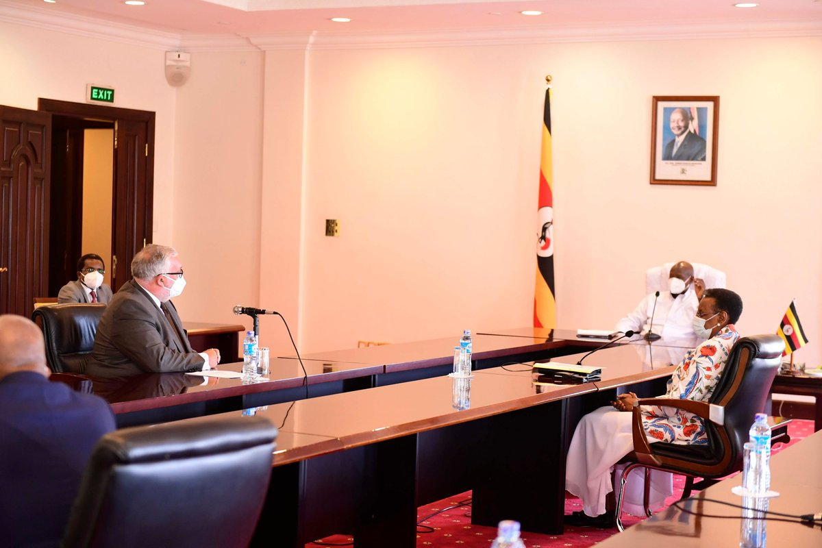 Together with the Minister of Education, the Chairperson of our Education Development Partners who is also Ambassador of #Belgium to Uganda H.E Rudi Veetraeten and the acting Ambassador of #USA to Uganda H.E Chritopher Krafft, held discussions about the budget gaps in the sector.