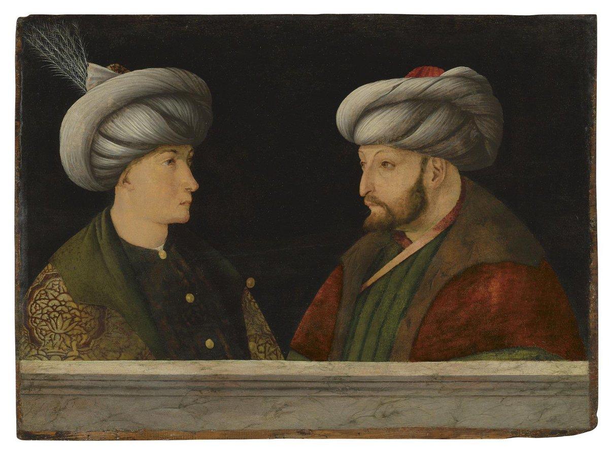 Londra'da açık artırma ile satılan, Fatih Sultan Mehmet Han'ın günümüze kadar gelebilmiş üç orijinal portresinden biri olan, İtalyan ressam Gentile Bellini'nin atölyesinden 15. yüzyılda çıktığı tahmin edilen yağlıboya tabloyu İBB olarak satın aldık. https://t.co/z3NVue07JR