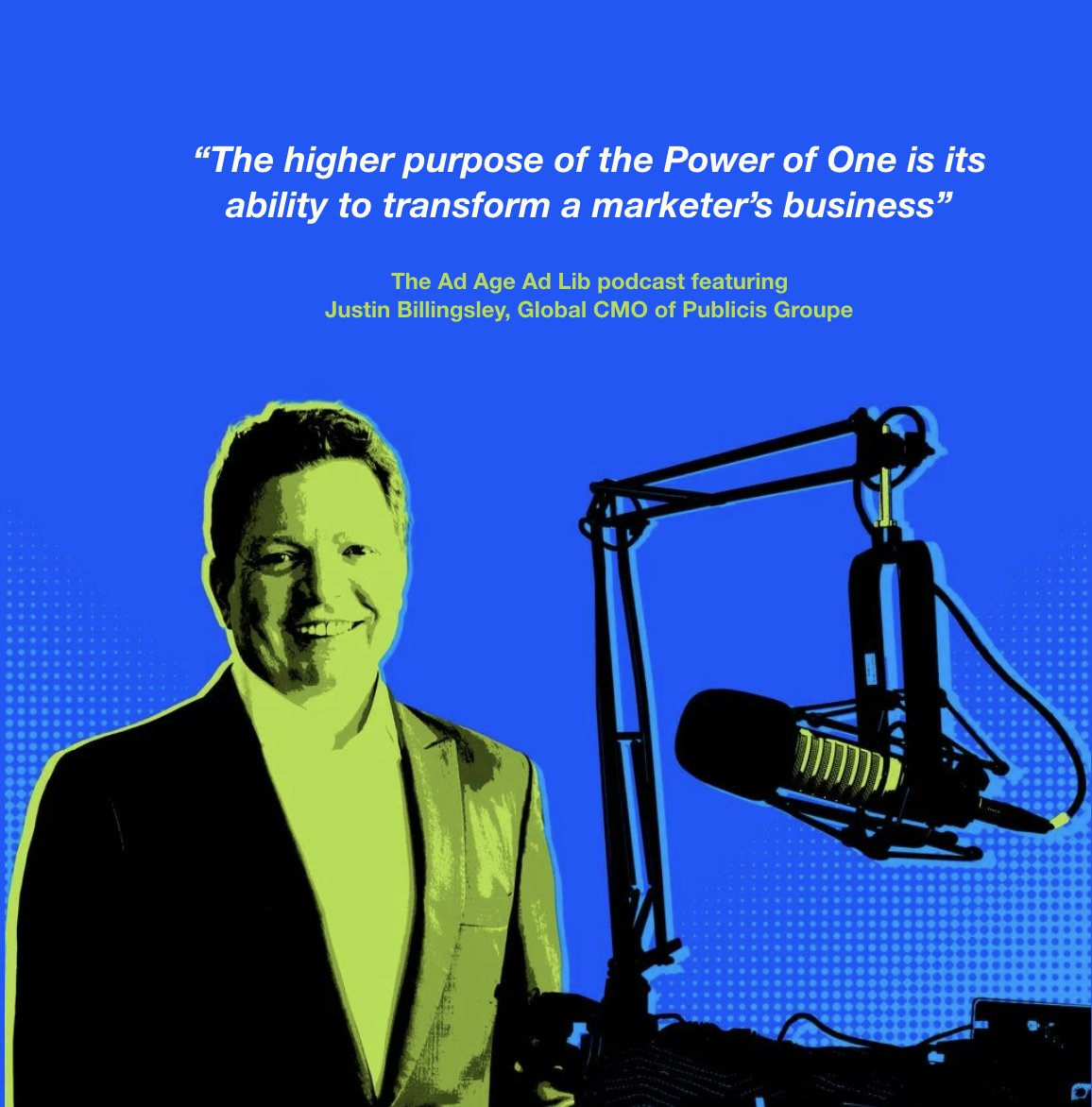 """""""The higher purpose of the #PowerOfOne — and why Justin Billingsley @8illingsley is convinced it will change the industry down to its economics — is its ability to transform a marketer's business."""" Via @adage ➡️ https://t.co/B18pvAYuSl https://t.co/StyXTgOnIT"""