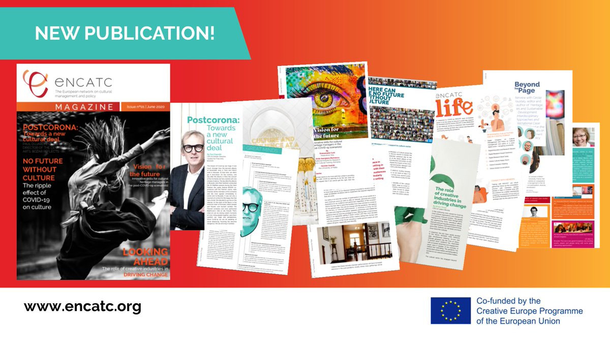 ⚡️BREAKING! We've launched a new FREE publication, #ENCATCmagazine with the aim to educate, entertain, raise awareness & inform on various topics related to #CulturalManagement #CulturalPolicy!  DOWNLOAD ⬇️ https://t.co/hArCR1neHn #Culture #Education #Research #EUprojects https://t.co/cx94dTAz8Y